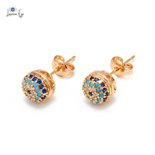 "Load image into Gallery viewer, <img src=""earring.png"" alt=""evil eye stud earring 18k gold plated nickel-free lead-free luxurious"">"