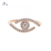 "Load image into Gallery viewer, <img src=""ring.png"" alt=""evil eye ring 18k rose gold plated aaa cubic zircon stone"">"
