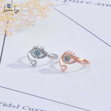 "Load image into Gallery viewer, <img src=""ring.png"" alt=""evil eye ring 18k rose gold plated silver plated cubic zirconia crystal zircon adjustable size"">"