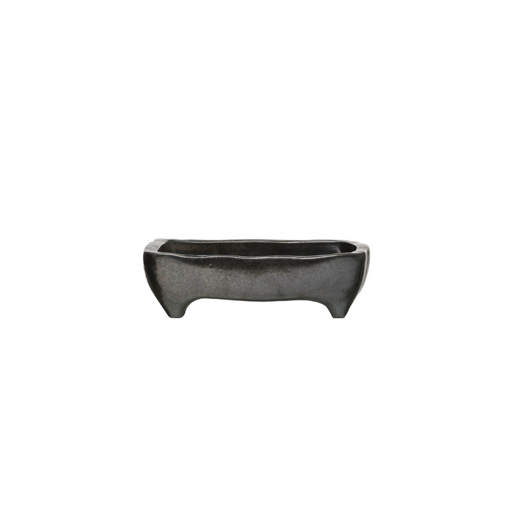Footed Black Tray