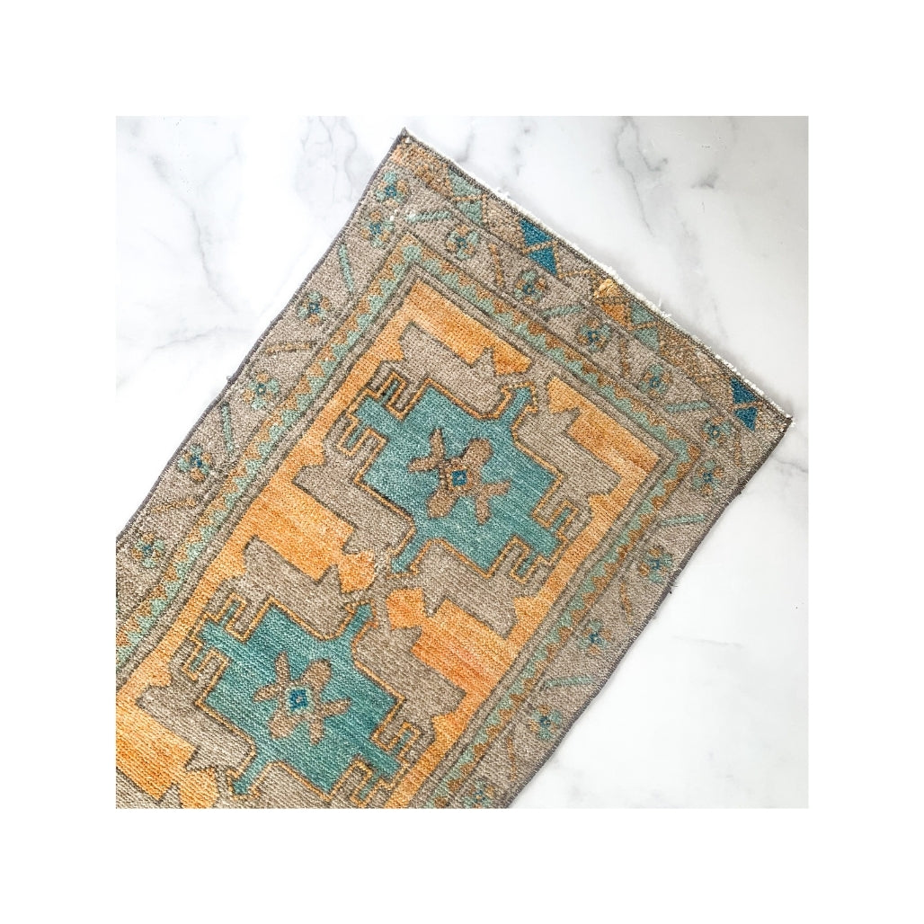 Vintage Turkish Mini Rug - Serena