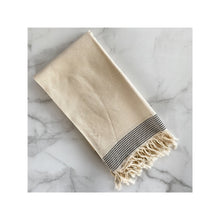 Load image into Gallery viewer, Turkish Bath Towel - Black Stripe
