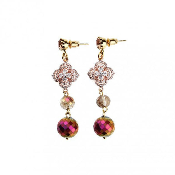 Etro accessories Pendant Earring with Boules and Strass