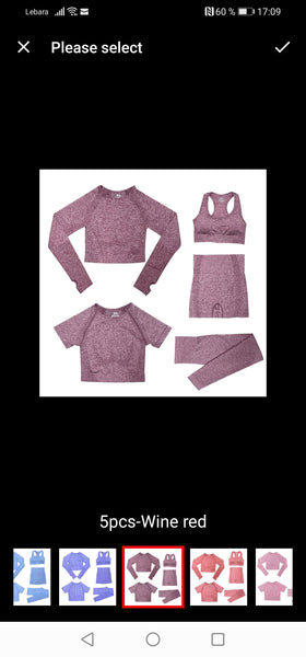 Pink 5 Pcs Frauen Sport Set