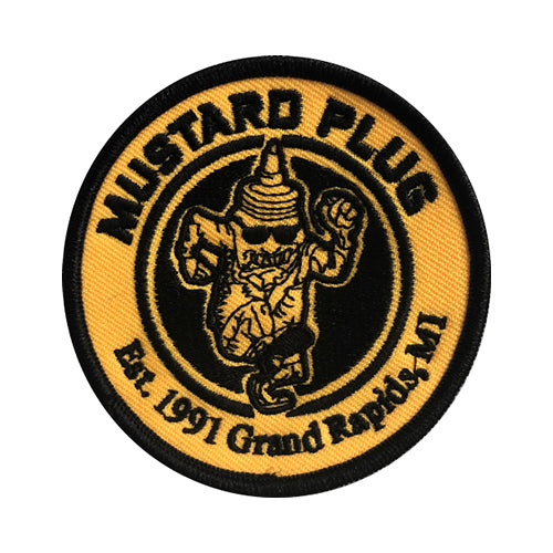 (MPS001) Mustard Man Embroidered Patch