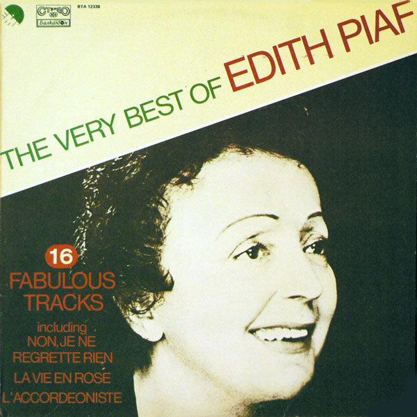 Edith Piaf - The Very Best Of (LP Vinyl) g