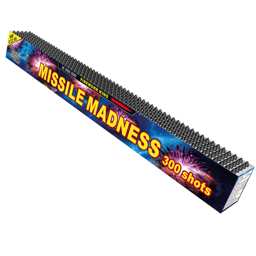 Firework King Missile Madness  - 300 Shot