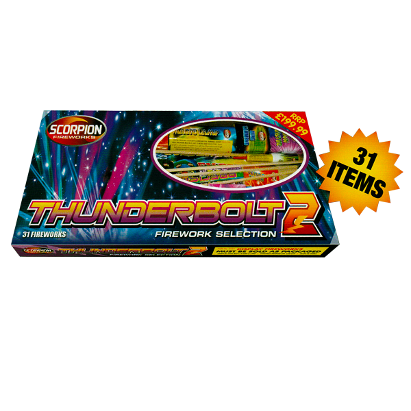 Thunderbolt 2 Selection Box - 31 Fireworks