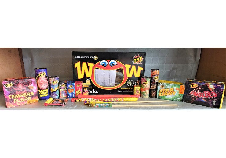 TNT WOW Selection Box - 16 Fireworks