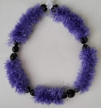 Load image into Gallery viewer, Kukui Nut Eyelash Yarn Lei with Button