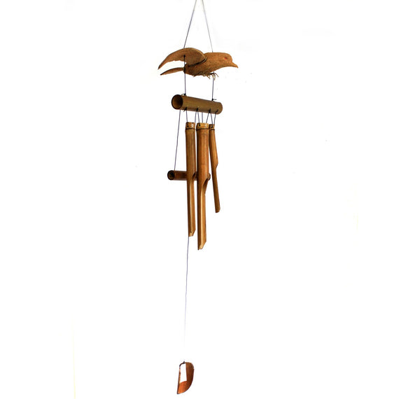 1x Coconut Blackbird Windchimes