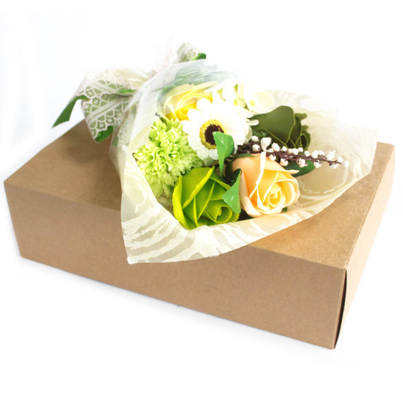 Boxed Hand Soap Flower Bouquet - Green