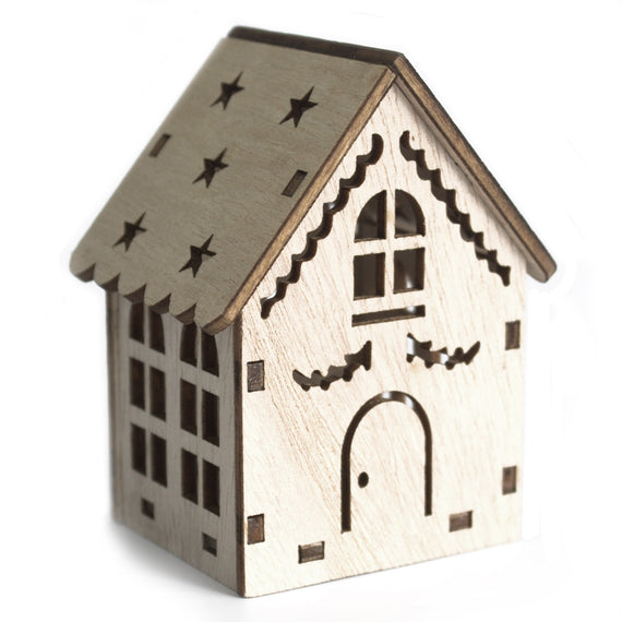 Small Wooden LED Light Shadow House