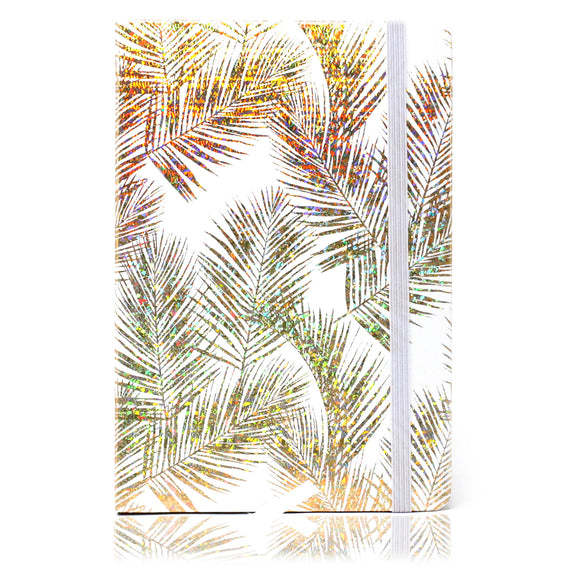 Cool A5 Notebook - Lined Paper - Golden Tropical