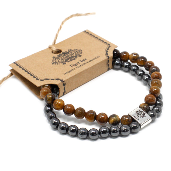 Magnetic Gemstone Bracelet - Tiger Eye
