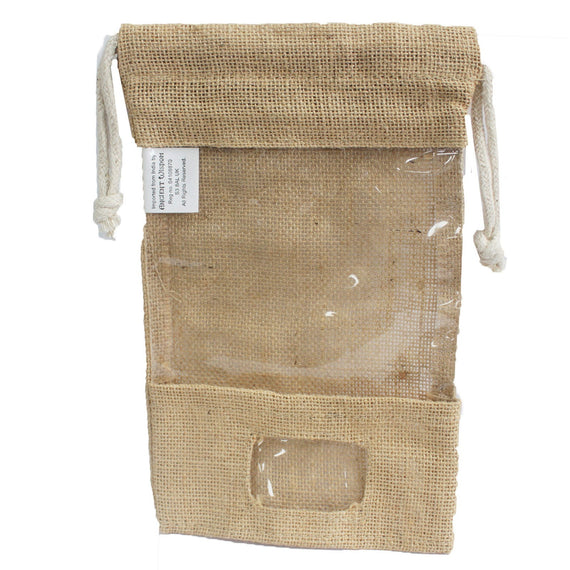 Jute Window Bag 25x16cm & pocket