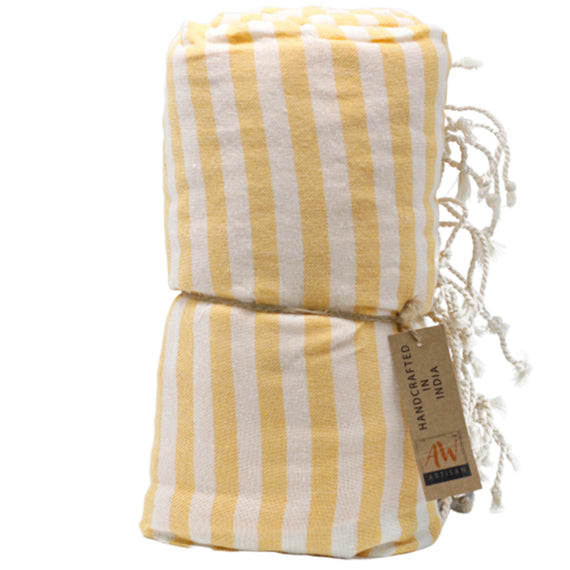 Cotton Pario Towel - 100x180 cm - Sunny Yellow