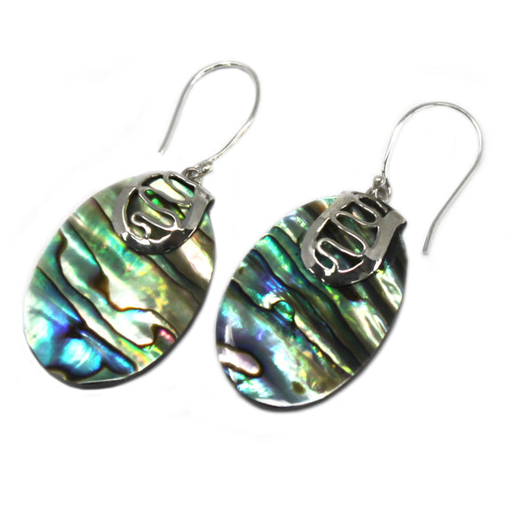 Shell & Silver Earrings - Flip-flops- Abalone