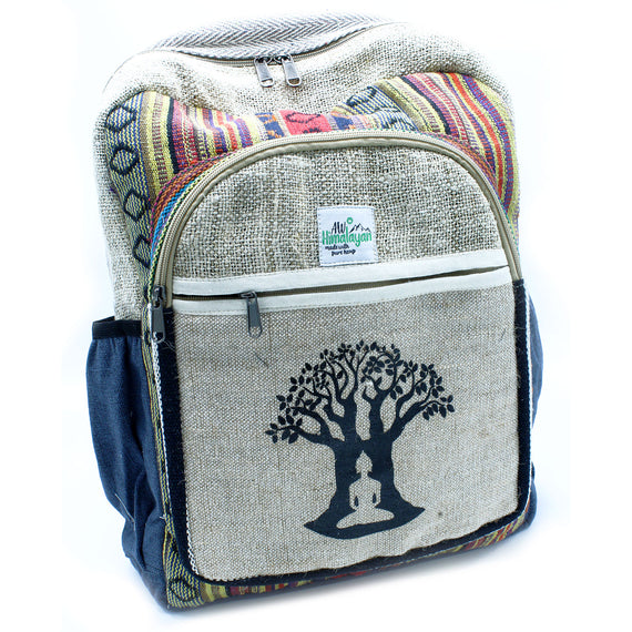 Large Hemp Backpack - Bohdi Tree Design