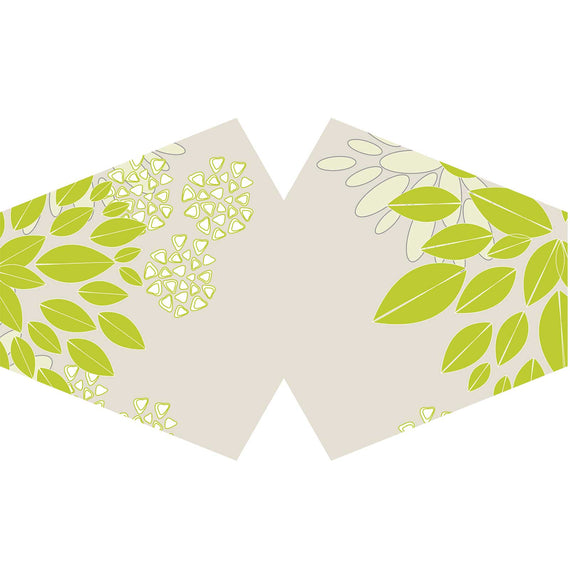 Reusable Fashion Face Covering - Grean Leaves (Adult)