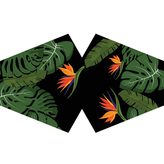 Reusable Fashion Face Covering - Green Jungle (Adult)