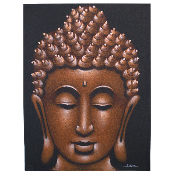 Buddah Painting - Copper Sand Finish