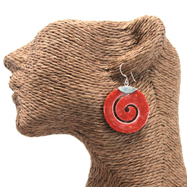 Coral Style 925 Silver Earring - Scroll Design