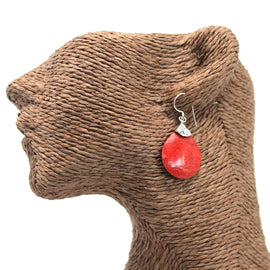 Coral Style 925 Silver Earring - Ball Drops