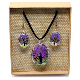 Pressed Flowers - Tree of Life set - Lavender