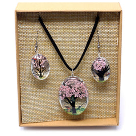 Pressed Flowers - Tree of Life set - Pink