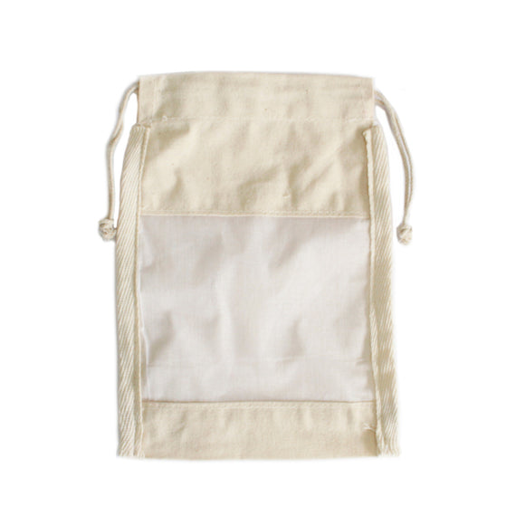 Med Cotton Window Pouch - 21x15cm