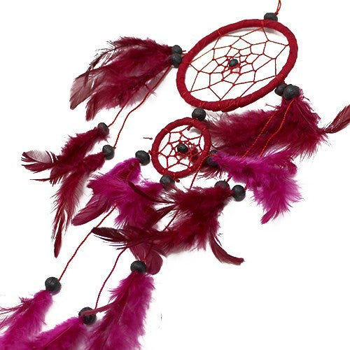 Bali Dreamcatcher - Medium Round - Black/White/Red