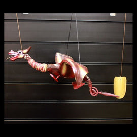 Red Coconut Dragon Mobile 37cm
