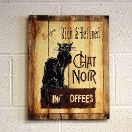 Wooden Signs - Chat Noir