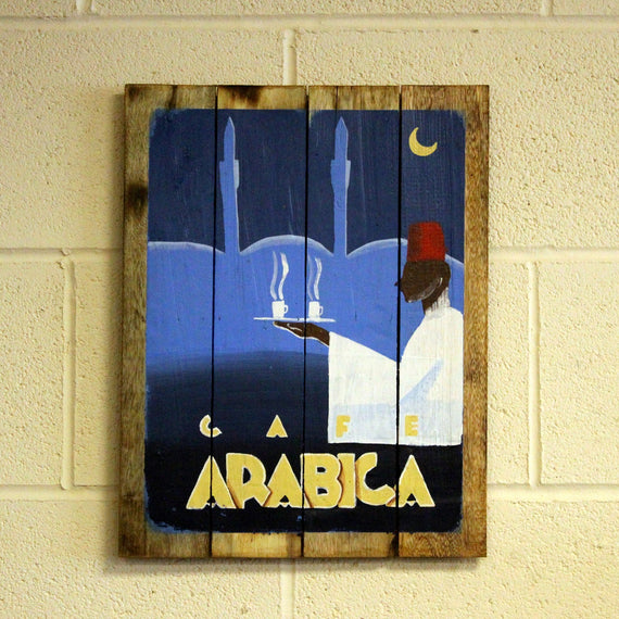 Wooden Signs - Cafe Arabica