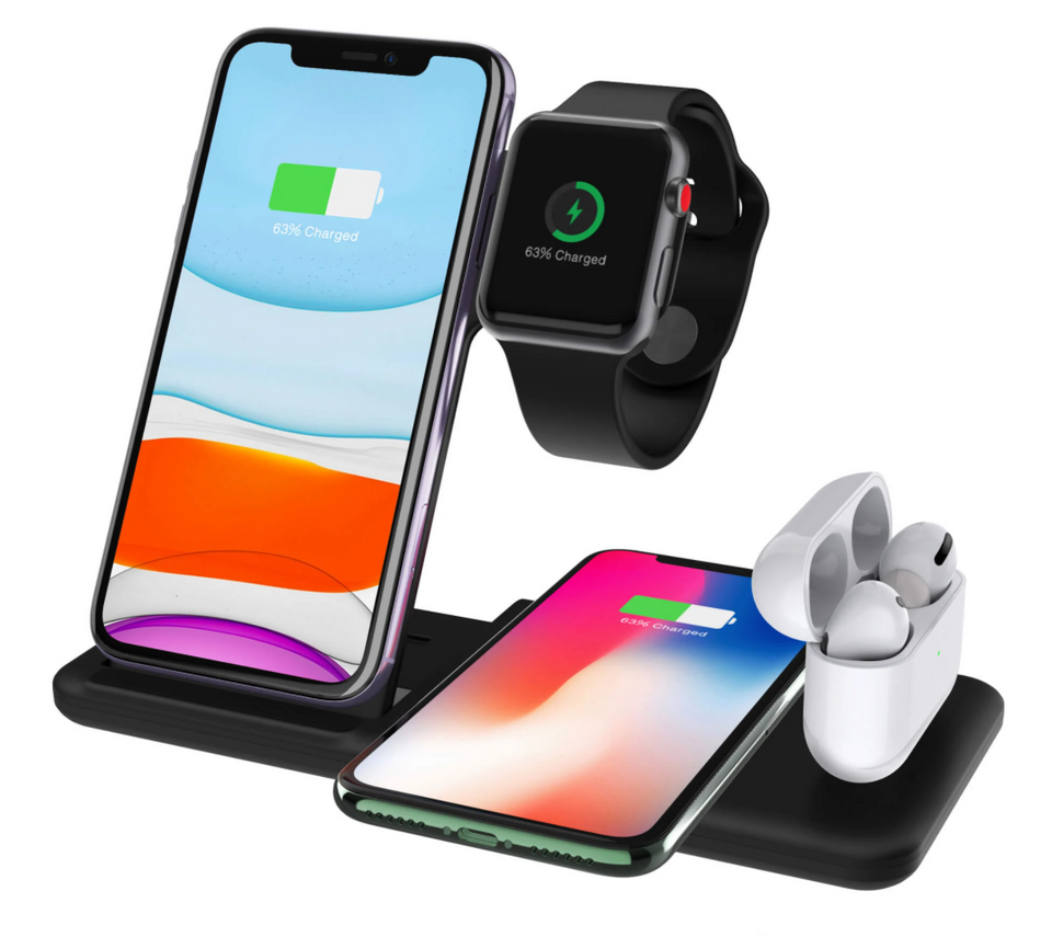 4 IN 1 FAST WIRELESS CHARGER STATION