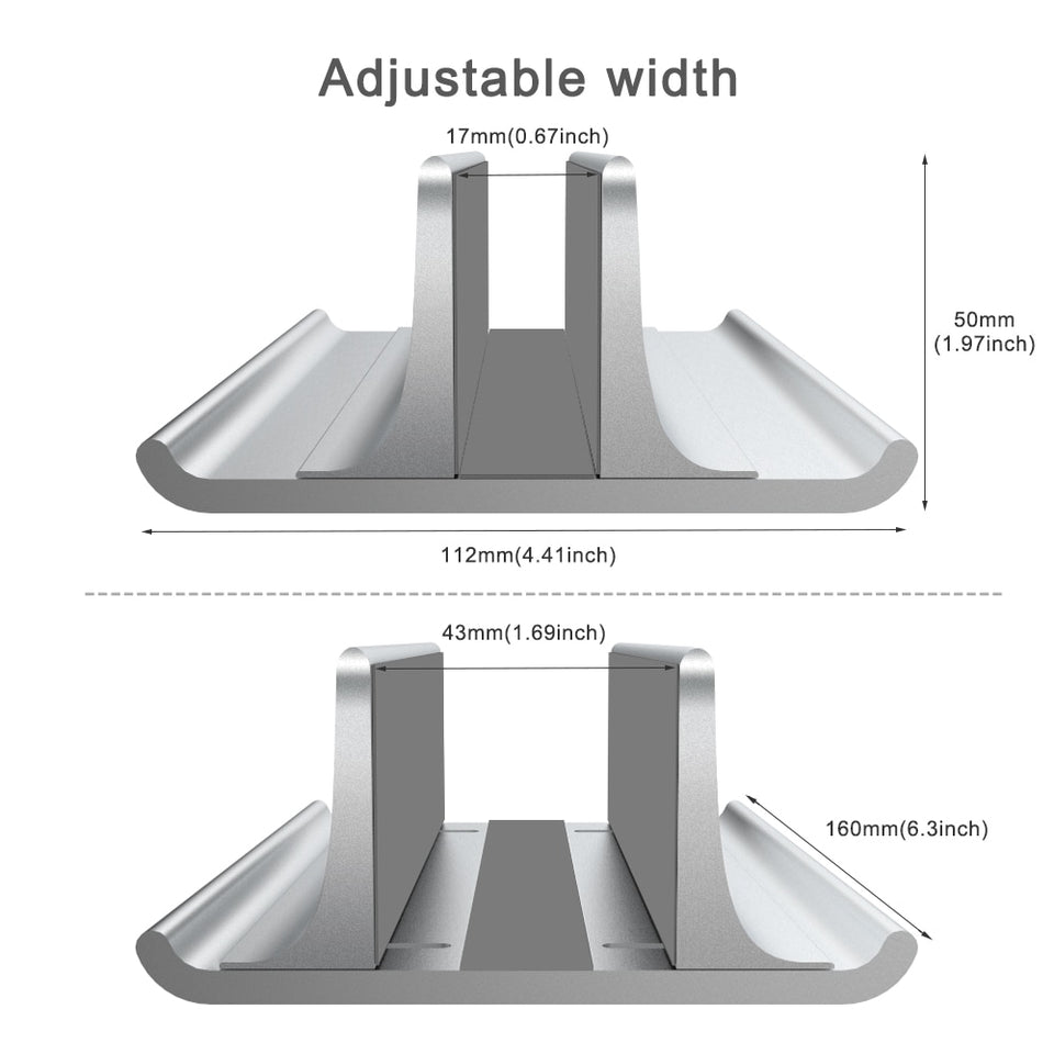 ADJUSTABLE VERTICAL LAPTOP STAND