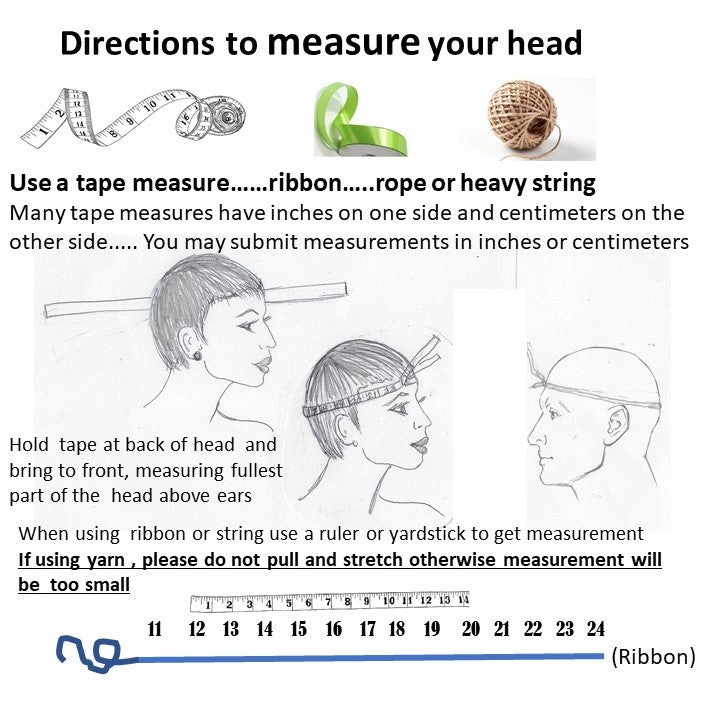 Instructions How To Measure Your Hat Size   Audrey Weaver Designs