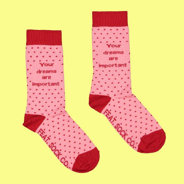 Ladies' 'Your Dreams Are Important' socks