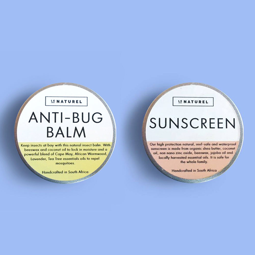 Le Naturel Natural Sunscreen & Anti-Bug Balm 30g Combo