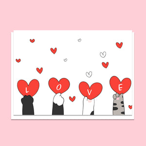 Love Cat Paws Greeting Card