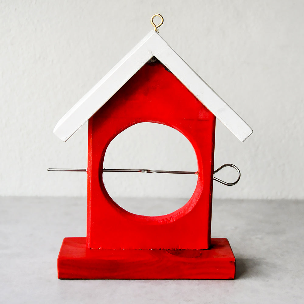 Garden Fruit Bird Feeder - Red
