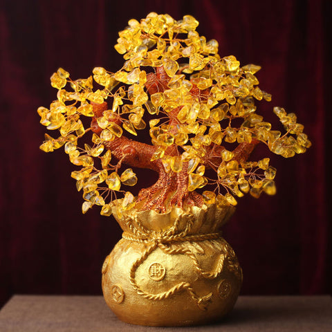 Feng Shui Auspicious Natural and Authentic Crystal Wealth Tree Decor