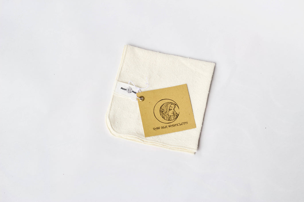 Raw silk Washcloth