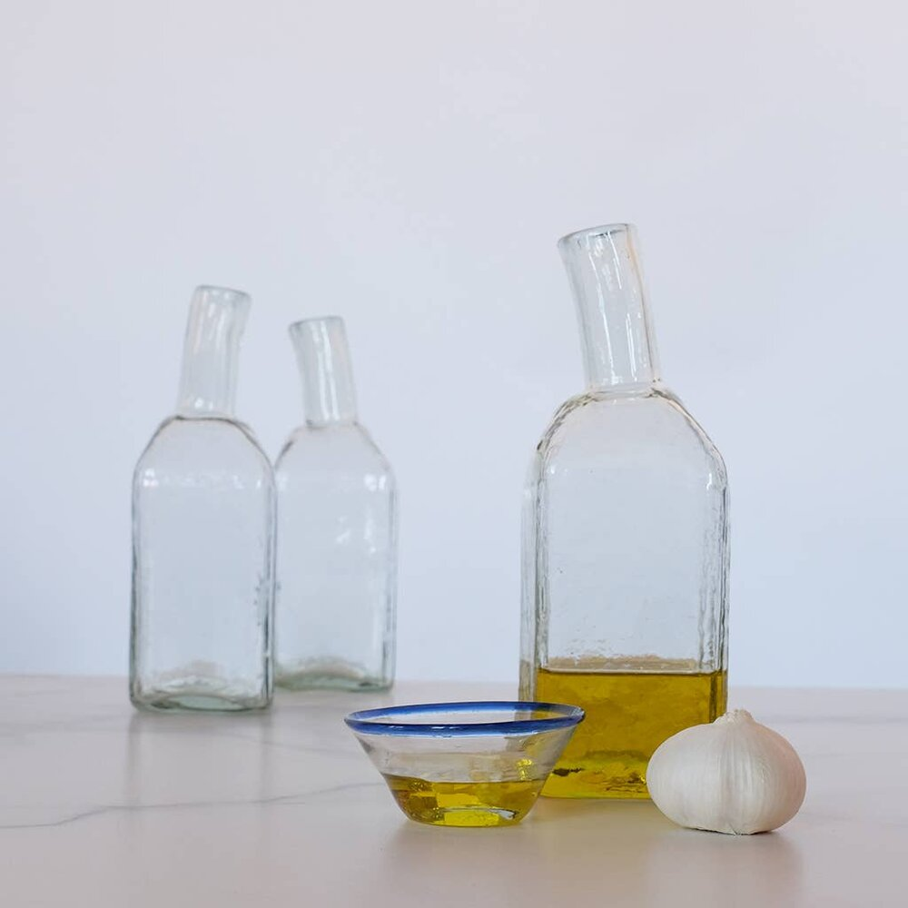 Crooked Neck Glass Bottle