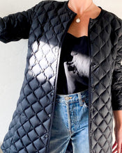Load image into Gallery viewer, Black Quilted Puffer Coat