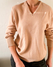 Load image into Gallery viewer, Vintage Beige V-Neck Sweater