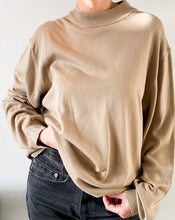 Load image into Gallery viewer, Vintage Camel Mock Neck Sweater