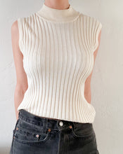 Load image into Gallery viewer, Vintage Cream Silk Sleeveless Knit