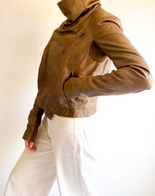 Load image into Gallery viewer, Veda Brown Leather Jacket
